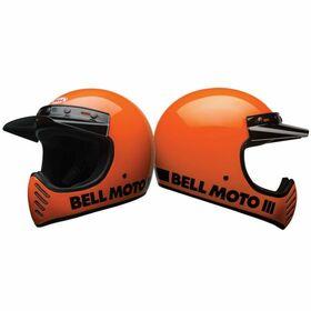 Moto-3オートバイヘルメット Classic Flo Orange バイク 商店 ベル helmet ☆ メーカー再生品 Colour:Classic BELL