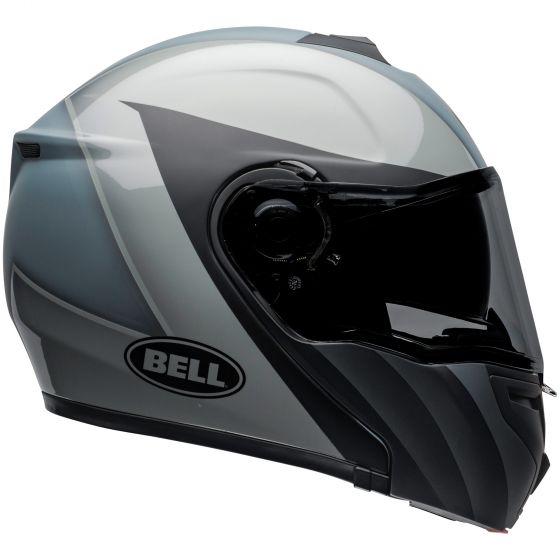 ☆【Bell】Street SRT Modular Graphic Motorcycle Helmet|Colour:Presence Matt-Gloss Black / GreySizeXS (53-54cm)