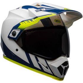 ☆【Bell】MX-9アドベンチャーMIPSグラフィックオートバイヘルメット | Colour:Dash Gloss White / Blue / Hi-Viz
