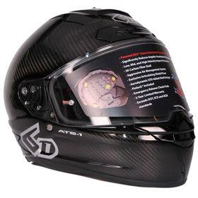 ☆【6D】ATS-1Rソリッドプレーンオートバイヘルメット | ColourCarbon Gloss Black