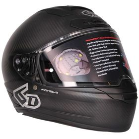 ☆【6D】ATS-1Rソリッドプレーンオートバイヘルメット | ColourCarbon Matt Black