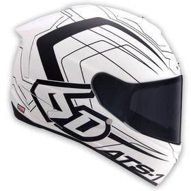 ☆【6D】ATS-1R Aeroオートバイヘルメット | ColourMatt White