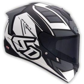 ☆【6D】ATS-1Rローグオートバイヘルメット | ColourMatt White / Grey