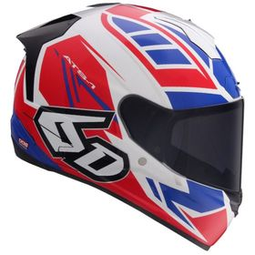 ☆【6D】ATS-1Rローグオートバイヘルメット | ColourGloss Red / White / Blue