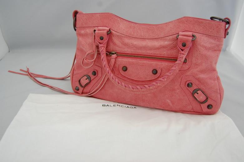 バッグ 【中古】【バレンシアガ】【Balenciaga】 ザファースト 103208 ピンク