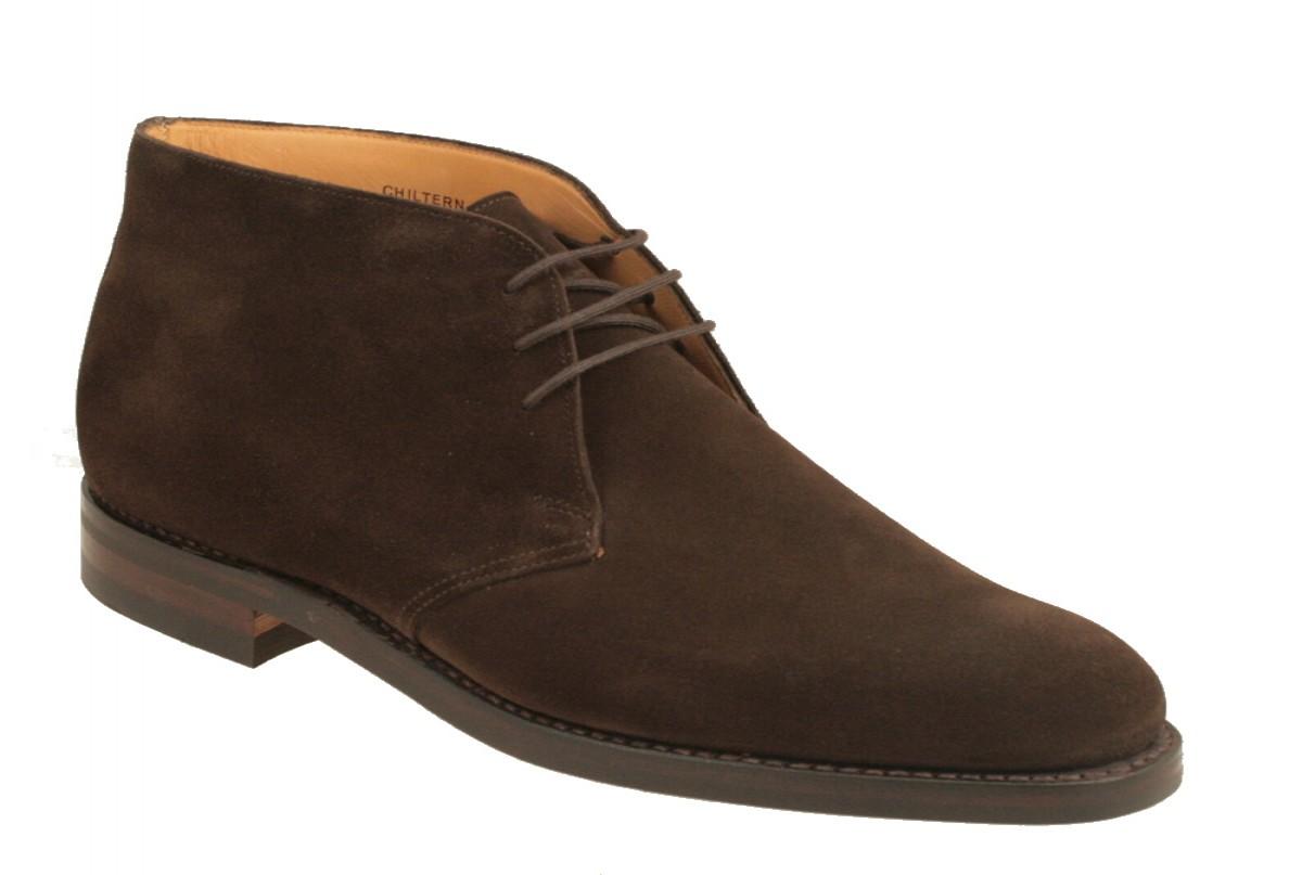 【Crockett and Jones】Chiltern ワイズE クロケット&ジョーンズ チャッカブーツ「チルターン」ダークブラウン スエードイギリス製 革靴 UKサイズ6~13(日本サイズ24.5cm~31.5cm)ラバーソール