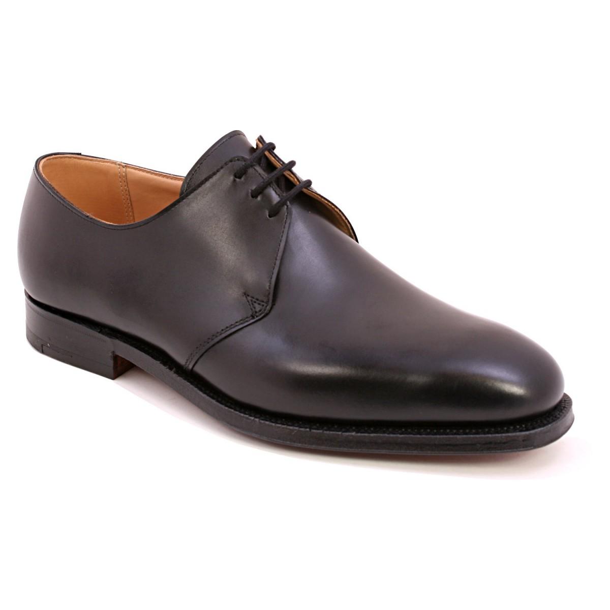 【Crockett and Jones】Dartmouth ワイズG クロケット&ジョーンズ ダービーシューズ「ダートマス」ブラック カーフレザー 黒イギリス製 革靴 UKサイズ7