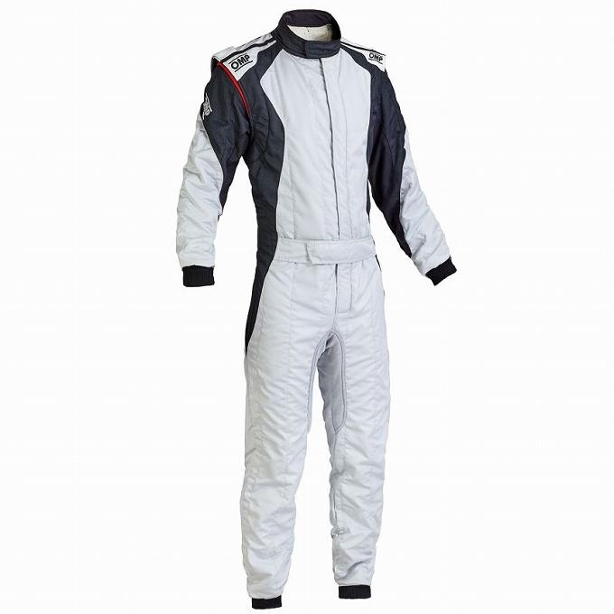 【OMP】ファースト エボ レース スーツ レーシング first evo シルバー×ブラック 銀×黒