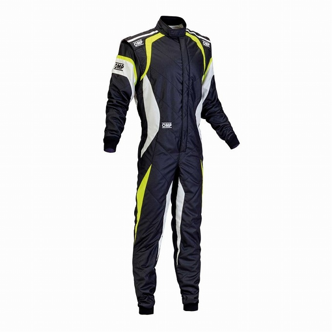 【OMP】ONE EVO レース スーツ レーシング ワン エボ ブラック×ホワイト×イエロー 黒×白×黄