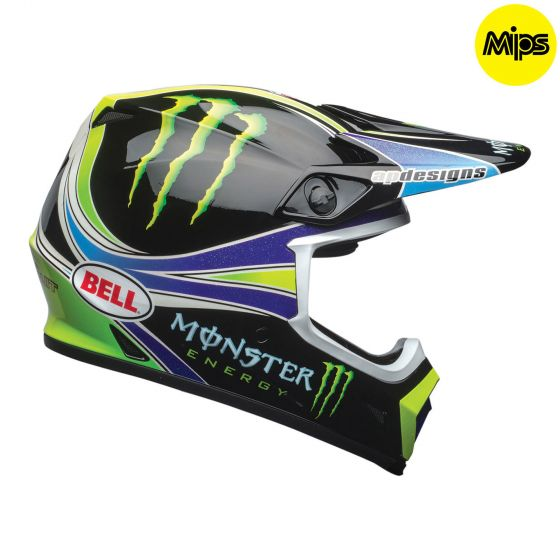 ☆【Bell】MX-9モトクロスヘルメット - プロサーキットモンスターカモrep