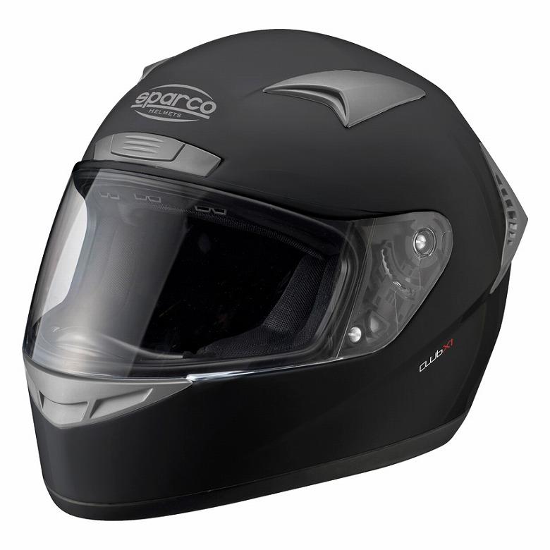 【Sparco】スパルコ club クラブ X1 ヘルメット マットブラック XS~XXL