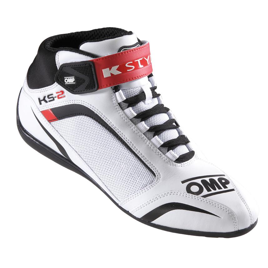 ☆【OMP】KS-2カート ブーツ  ホワイト/ブラック/レッド