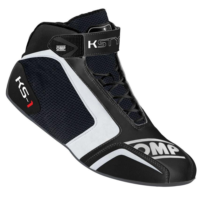 ☆【OMP】KS-1カート ブーツ  ブラック/ホワイト/グレー UK 7 / Eur 41