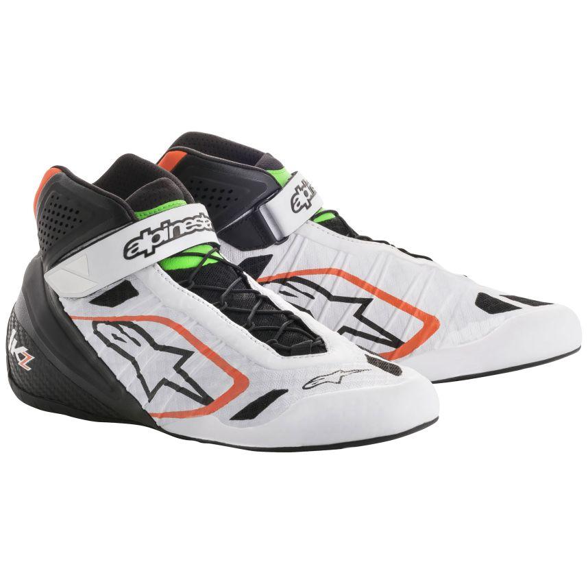 ☆【Alpinestars】(アルパインスターズ)Tech 1-KZ Boots Kart ホワイト/ブラック/フルロオレンジ/フルログリーン