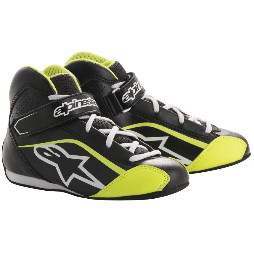 ☆【Alpinestars】Tech 1-KSキッズカートブーツ ブラック/ホワイト/フルロイエロー UK 12.5 / Eur 32