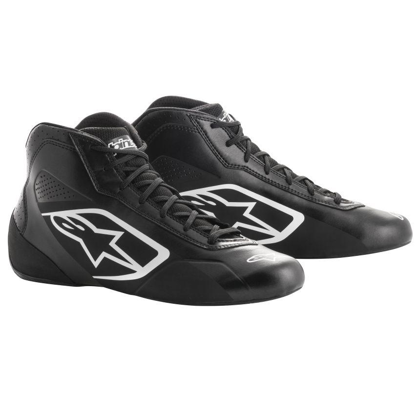 ☆【Alpinestars】Tech 1-Kカートスタートブーツ 黒、白 UK 8 / Eur 42