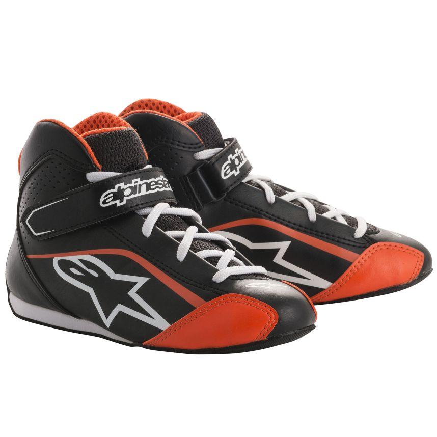 ☆【Alpinestars】Tech 1-KSキッズカートブーツ ブラック/ホワイト/フルオレンジ UK 11.5 / Eur 30