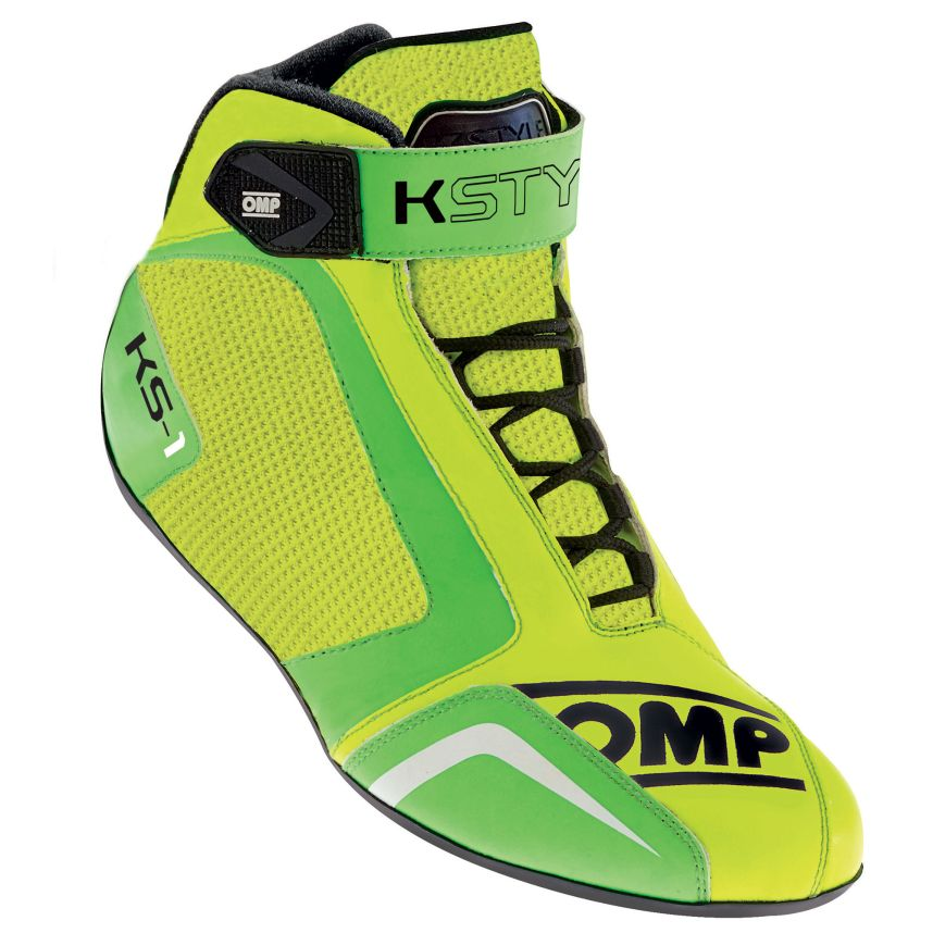 ☆【OMP】KS-1カート ブーツ  Fluro Yellow / Fluro Green UK 12 / Eur 47