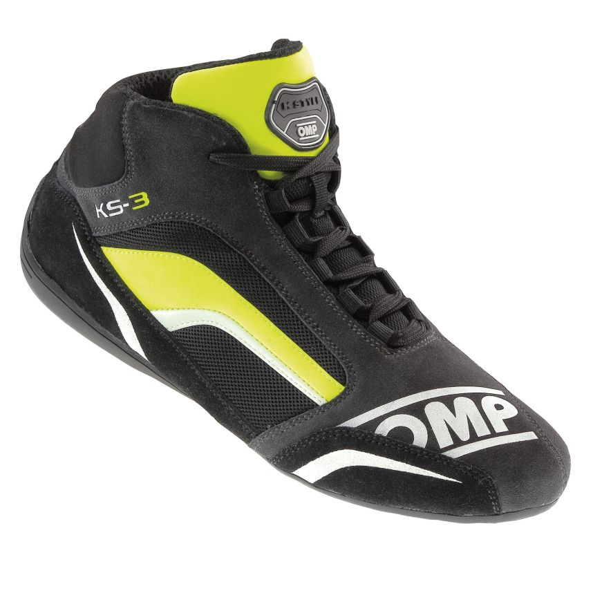 ☆【OMP】KS-3カート ブーツ 子供用  Anthracite(グレー)/ブラック/フルロイエロー UK 1.5 / Eur 34
