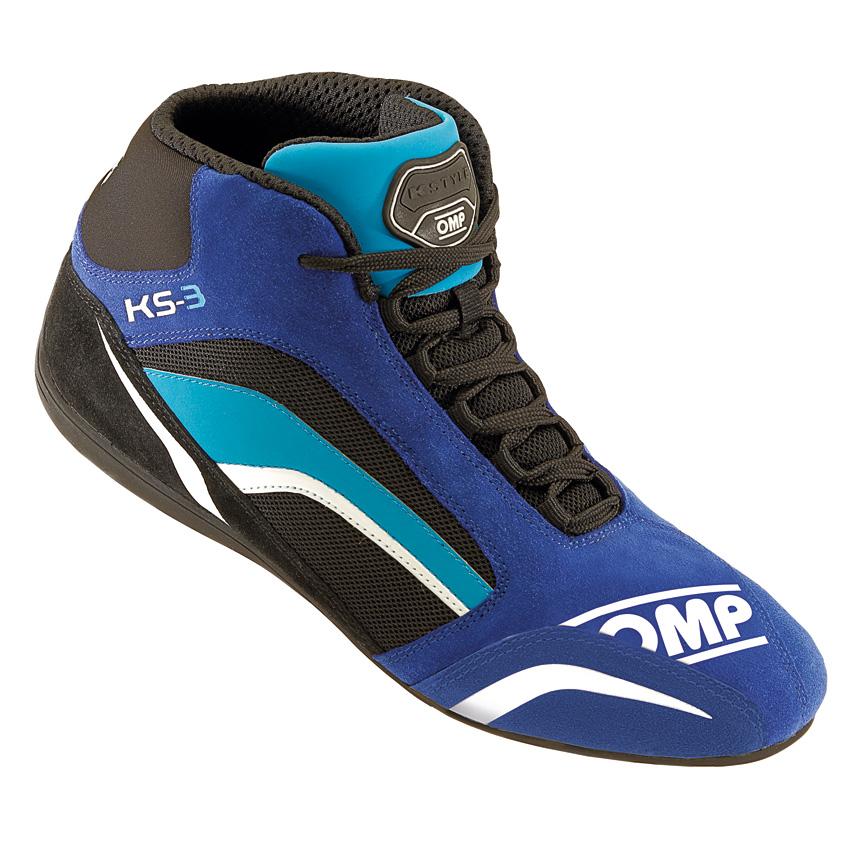☆【OMP】KS-3カート ブーツ 子供用  ブルー/ブラック/ライトブルー UK 2.5 / Eur 35