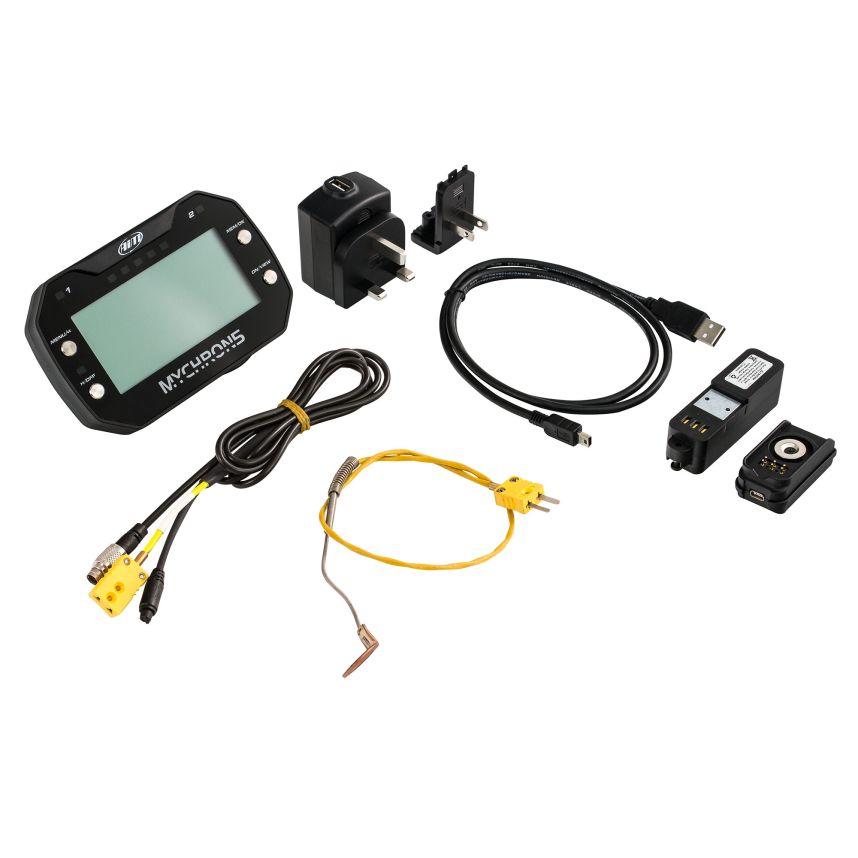 ☆【AIM Motorsport】MyChron5 GPS付き2Tダッシュロガー/カートラップタイマー MyChron5 2T、CHT /アンダープラグ温度センサー