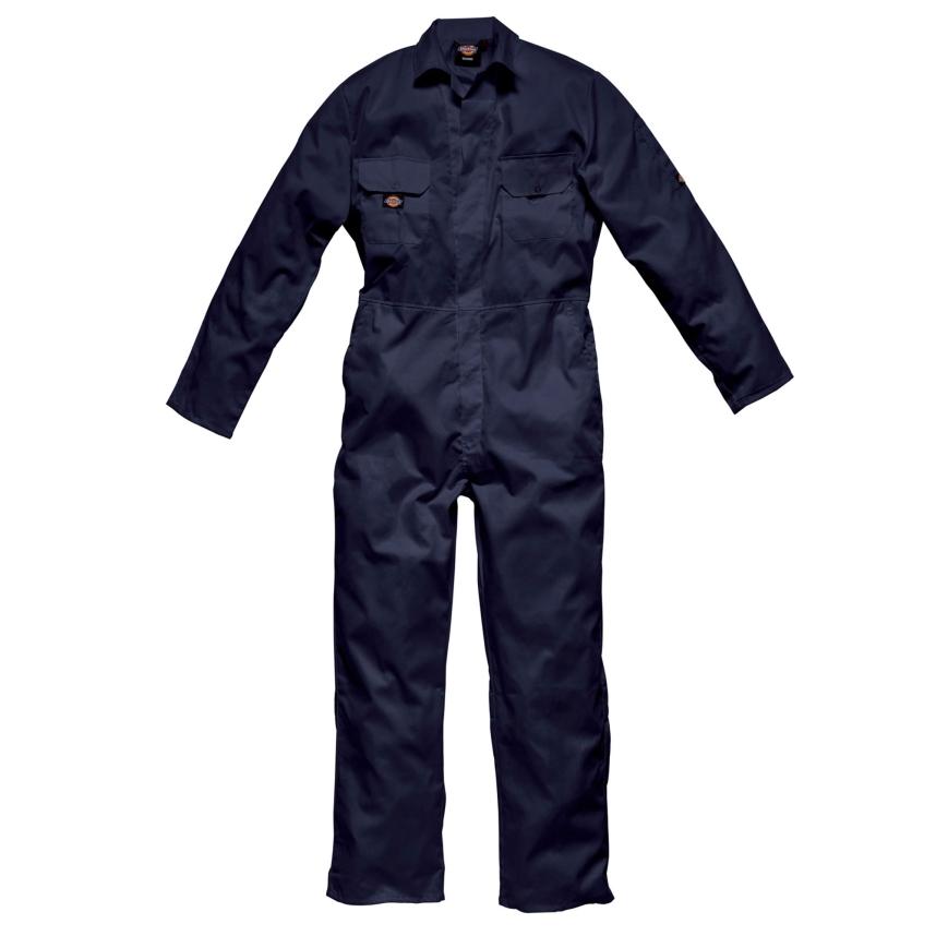 ☆【Dickies】Redhawkエコノミースタッドフロントカバーオール ブラック※商品画像はネイビーブルーとなります