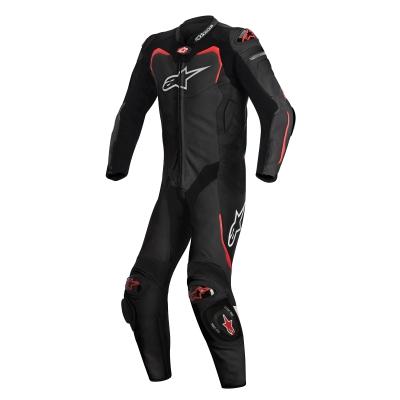 ☆【Alpinestars】Alpinestars GP Pro 1 Piece Leather Motorcycle Suit - Tech Air Bag Compatible Black / Red | UK 46 / Eur 56