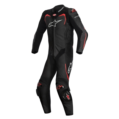 ☆【Alpinestars】Alpinestars GP Pro 1 Piece Leather Motorcycle Suit - Tech Air Bag Compatible Black / Red | UK 54 / Eur 64