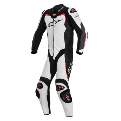 ☆【Alpinestars】アルパインスターズ レーシングスーツ GP Pro 1 Piece Leather Motorcycle Suit - Tech Air Bag Compatible White / Black / Red | UK 40 / Eur 50