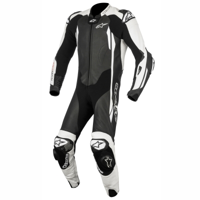 ☆【Alpinestars】Alpinestars GP Tech V2 1 Piece Leather Motorcycle Suit - Tech Air Bag Compatible Black / White | UK 48 / Eur 58