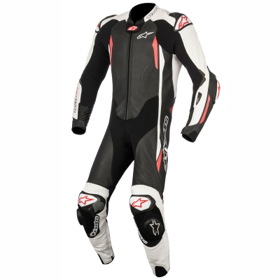 ☆【Alpinestars】Alpinestars GP Tech V2 1 Piece Leather Motorcycle Suit - Tech Air Bag Compatible Black / White / Red | UK 38 / Eur 48