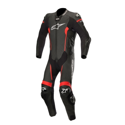 ☆【Alpinestars】アルパインスターズ レーシングスーツ Missile 1 Piece Leather Motorcycle Suit - Tech Air Bag Compatible Black / Red | UK 48 / Eur 58