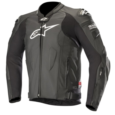 ☆【Alpinestars】Alpinestars Missile Leather Motorcycle Jacket - Tech Air Compatible Black | UK 40 / Eur 50