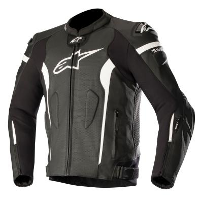 ☆【Alpinestars】Alpinestars Missile Leather Motorcycle Jacket - Tech Air Compatible Black / White | UK 44 / Eur 54
