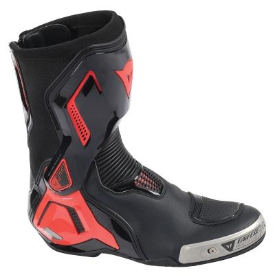 ☆【Dainese】ダイネーゼ レース用ブーツ ライディングシューズ トルクアウト Torque Out D1 Motorcycle Boots ブラック 黒 / レッド 赤 Fluo | UK 9 / Eur 43