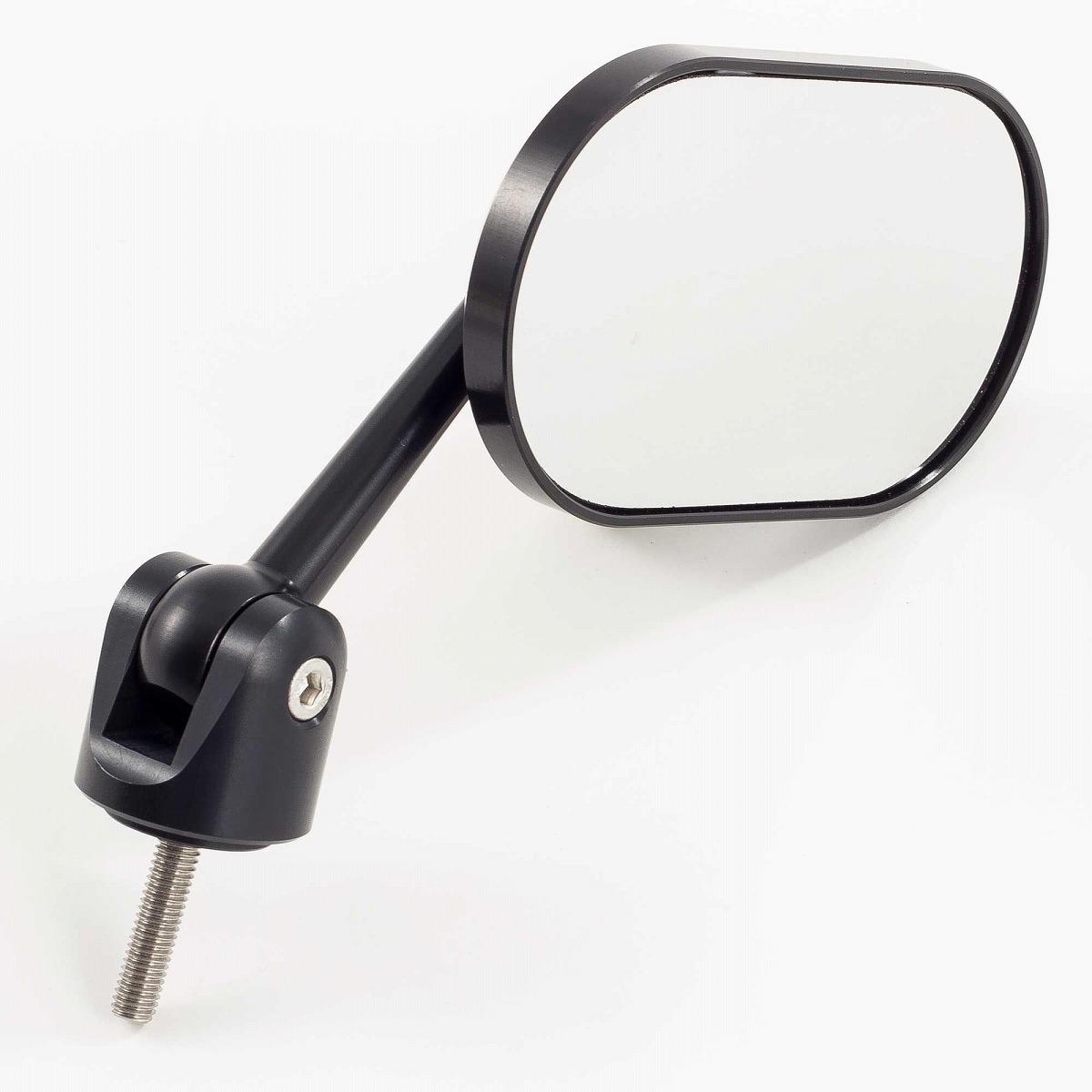 ☆【Oberon】オーベロンフラットオブロン調整可能なバーエンドミラー