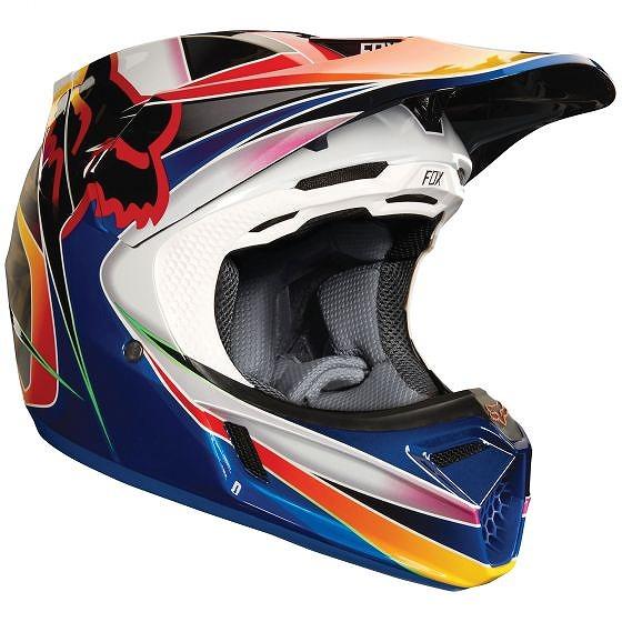 ☆【Fox】クロージングV3 KUSTMモトクロスヘルメット - マルチカラー L(59cm-60cm)