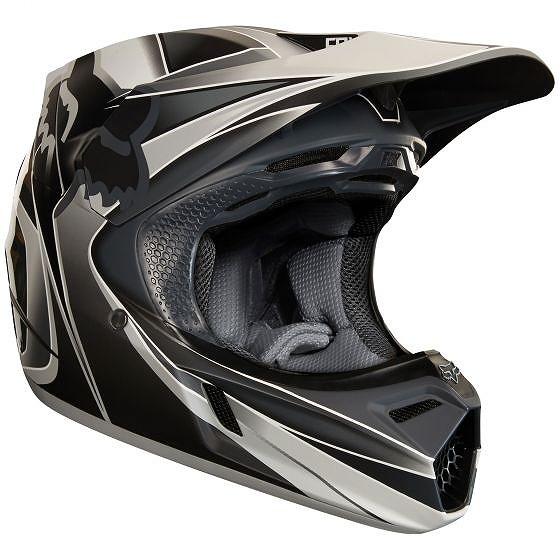 ☆【Fox】クロージングV3 KUSTMモトクロスヘルメット - グレー L(59cm-60cm)