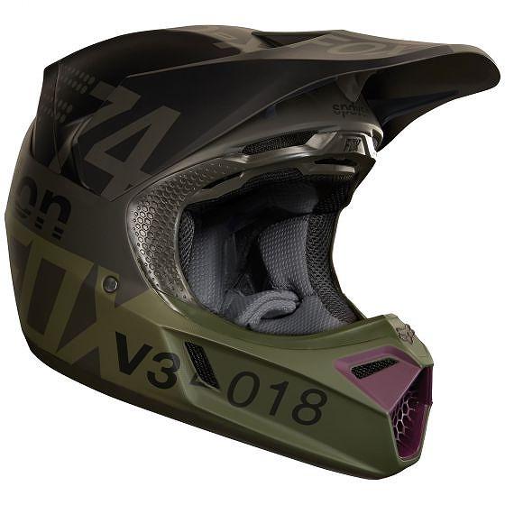 ☆【Fox】クロージングV3 KUSTMモトクロスヘルメット - チャコール S(55cm-60cm)