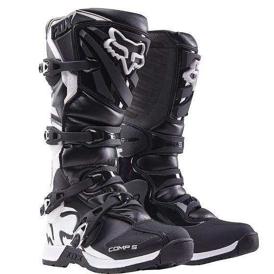 ☆【Fox】クロージングレディースコンプ5モトクロスブーツ - ブラック/ホワイト US 6/UK 5