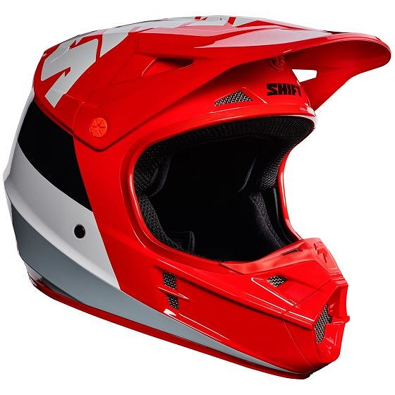 ☆【Shift】WHIT3 TARMACモトクロスヘルメット - レッド S