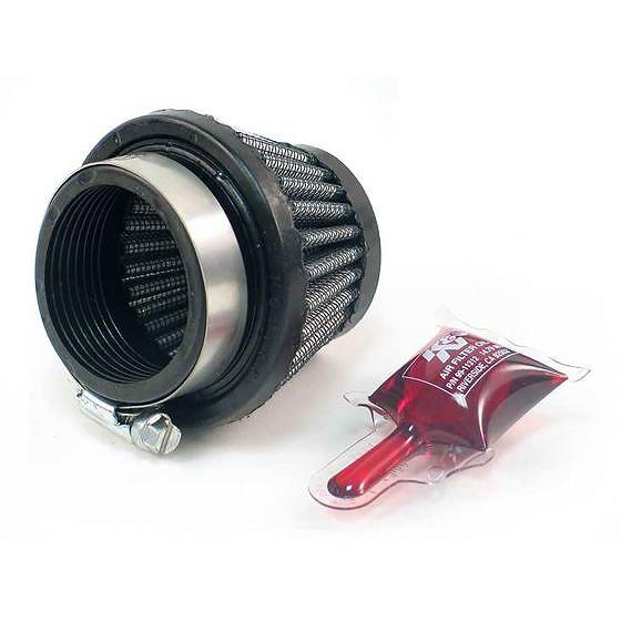 ☆【K&N】フィルターユニバーサルラウンドテーパードエアフィルター 48mm|51-76mm OD x 51mm L|Chrome|Centred