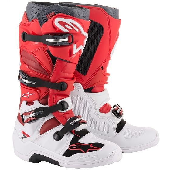 ☆【Alpinestars】Tech 7 Motocross Boot White / Red / Burgundy