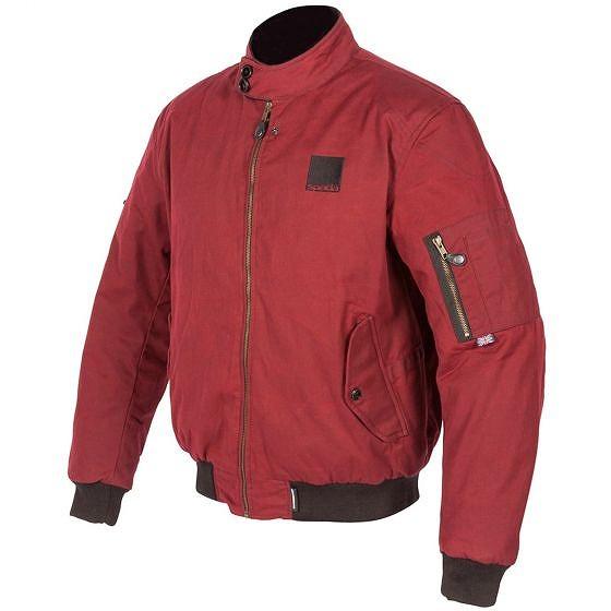 ☆【Spada】ハッピージャックハリントンテキスタイルオートバイのジャケット Classic Red | L