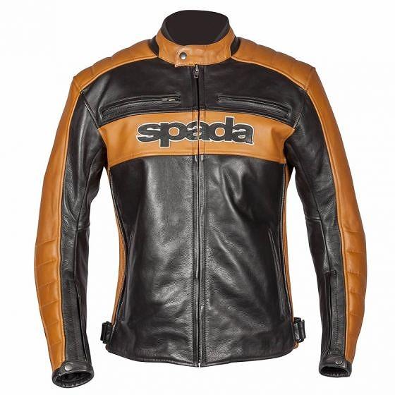 ☆【Spada】Turismoレザーオートバイジャケット Black / Gold