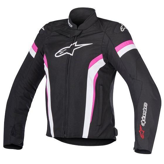 ☆【Alpinestars】Stella T-GP Plus R V2エアテキスタイルオートバイジャケット Black / White / Fuchsia