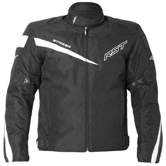 ☆【RST】1785ストライカーソリッドテキスタイルオートバイジャケット Black | UK 40 / Eur 50