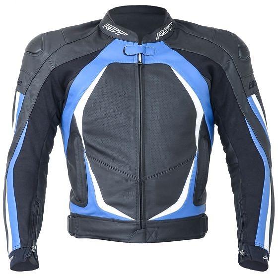 ☆【RST】1845ブレードIIレザーオートバイジャケット Blue | UK 46 / Eur 56