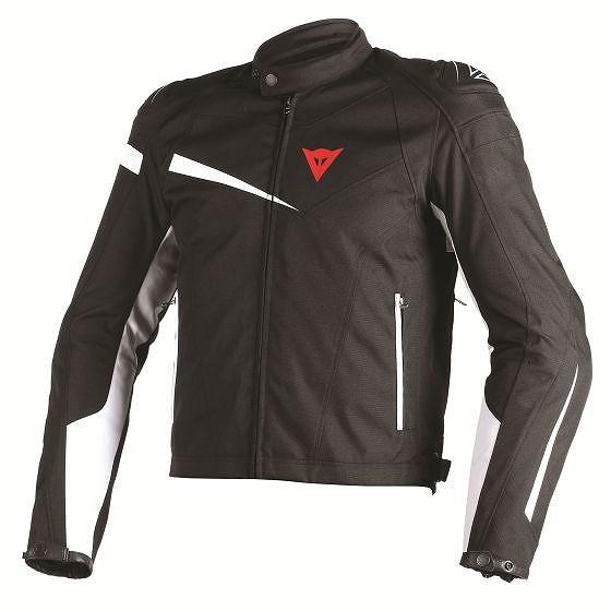 ☆【Dainese】Veloster Texオートバイジャケット Black / Black / White | UK 48 / Eur 58