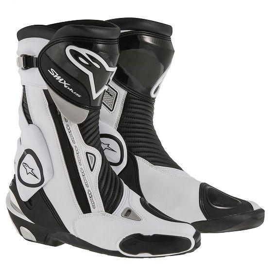 ☆【Alpinestars】S-MX Plusオートバイブーツ Black / White   UK 11 / Eur 46